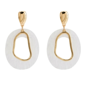 Big drop earrings studs white pearl and gold color parelmoer exclusive online by www.axelles-fashion.com ref 18062