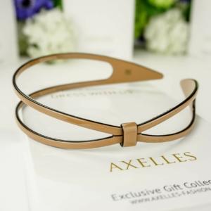 Luxe hairband 2-lines, coffee bruin (exclusief haarband in geschenksoos).