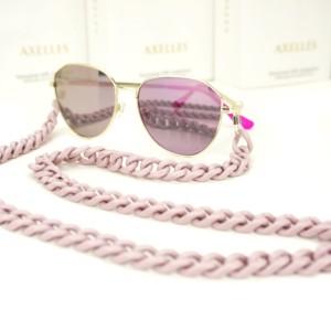Brillenhouder, brillenketting, brillekoord, nude, poeder roze, made-in-Italy, Axelles Fashion