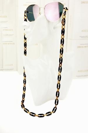 Brillenhouder, brillenketting, brillekoord, zwart, bruin, made-in-Italy, #AxellesFashion