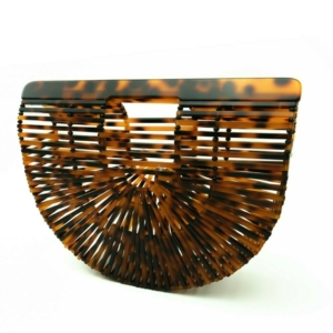 Woven basket handbag brown color, buy, kopen, online, www.axelles-fashion.com