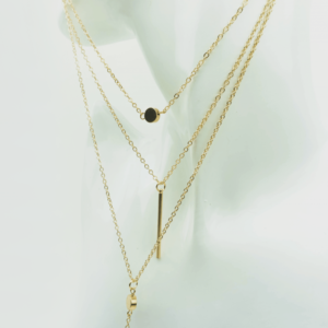 Trendy multilayer hanger necklace ketting buy online kopen on Axelles store