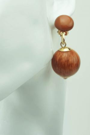 Trendy clips bol shape earrings,
