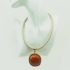 Modern necklace,clips,set, Tropical Hardwoods designed Axelles