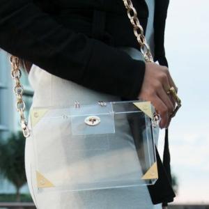прозрачный пластиковый браслет из смолы аксессуары-новейшие-модные-прозрачный-сумки-мешки-Браслеты-Браслет-ожерелье от Акселлес мода