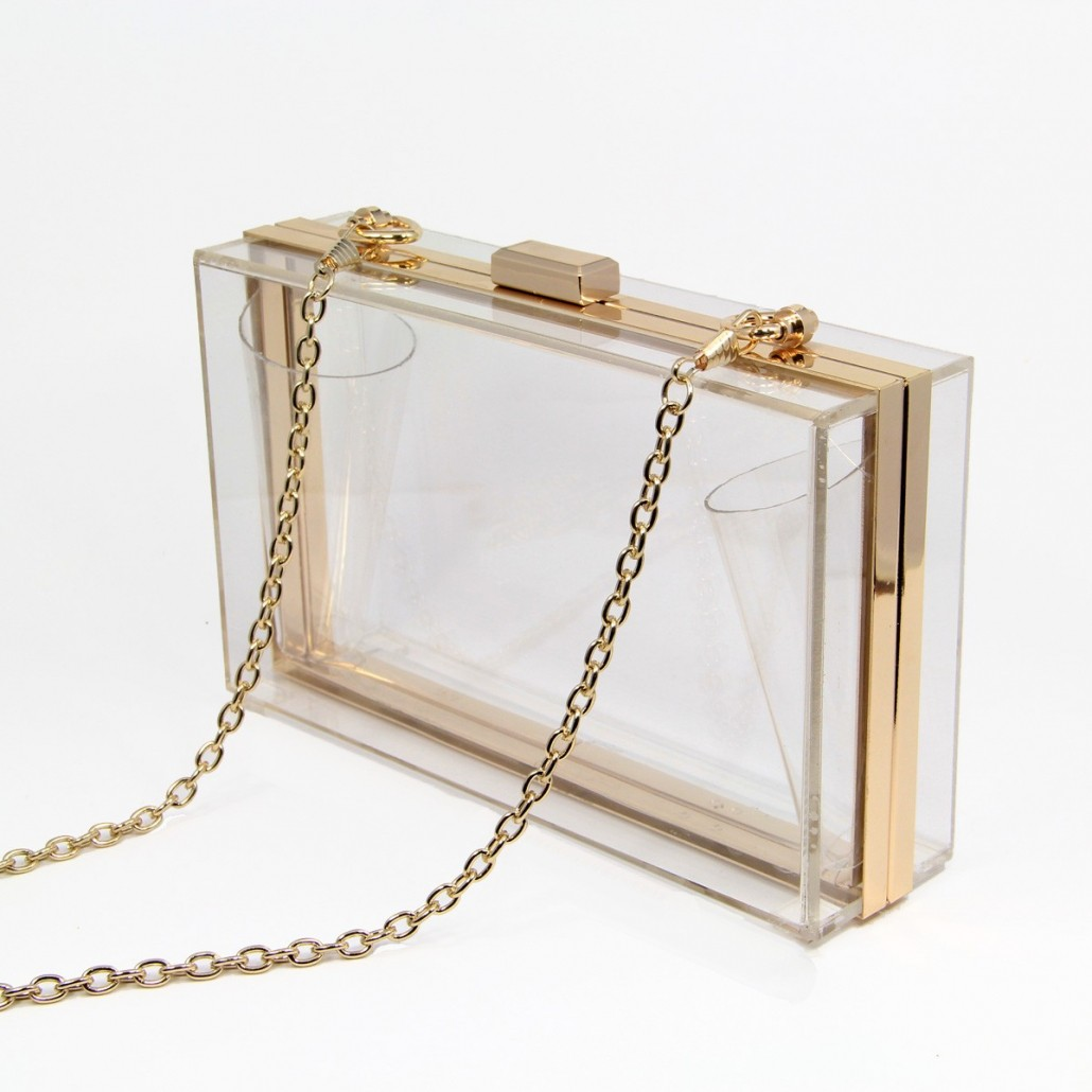 transparent acrylic-aka-Lucite, Perspex jewelry and accessories new fashion trend on Axelles Fashion