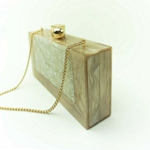 Acrylic marbled shoulder bag,purse, clutch buy, kopen, on Axelles Fashion