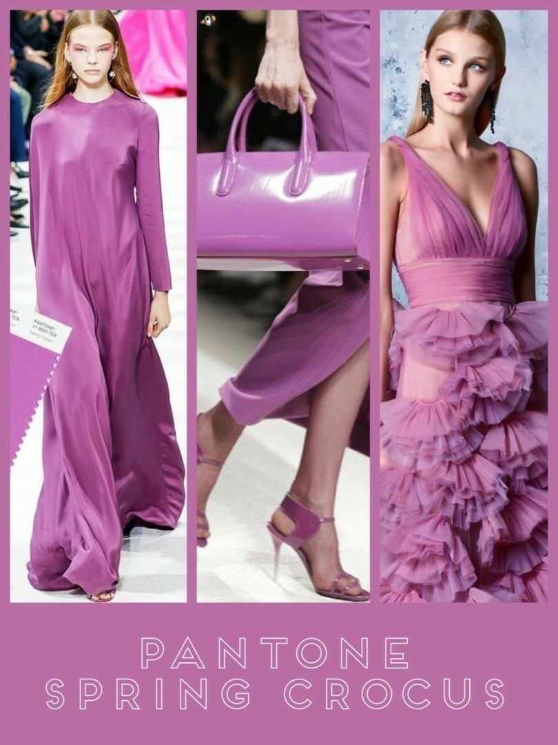 Pantone Color of the Year 2019 Spring Crocus: Purple lilac or Paarse Lila mode 2019