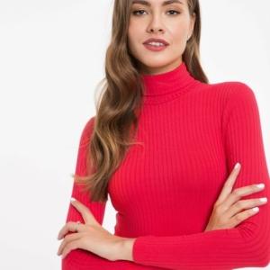 Women's bodysuit blouse classic underwear, zwart, rood, wit, Model-LBD 823, #AxellesFashion