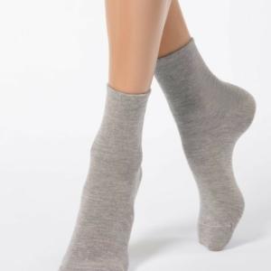 Warme sokken met angora (COMFORT), grijs, beige, 14C-114CP (000), Axelles