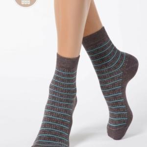 Warme sokken cashmere COMFORT-14C-66CP (047), grijs, bruin, blauw, Axelles