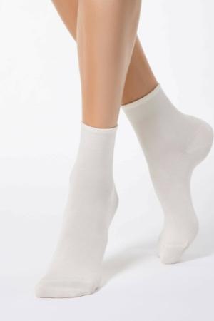 BAMBOE sokken effen klassiek, crème-beige (000)