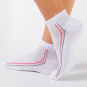 Dames enkelsokken/sportsokken (anklets) met badstof zool / Women's socks terry foot, Model: ACTIVE Product ID: 7C-41CP (015), #AxellesFashion