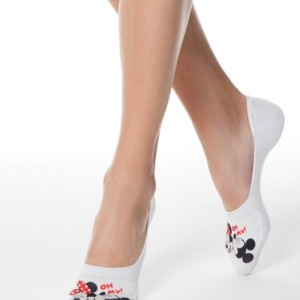Footies, invisible korte sokken DISNEY white, wit, article-18CP-198CPM-141, womansocks, sneakersokken, #AxellesFashion