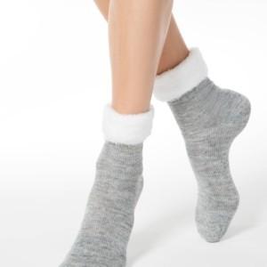 Gemêleerde sokken met ultra-zacht bordje, grijs, wit, 17C-173CP, Axelles