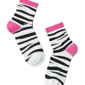 Dames sokken met zebramotief/Women's socks, model-CLASSIC, article-7C-22CP (-149), #AxellesFashion