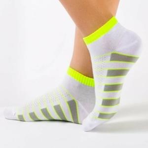 Enkelsokken /sneakersokken strepen zool / Women's short socks (anklets), article- 7C-34CP (067), #AxellesFashion.