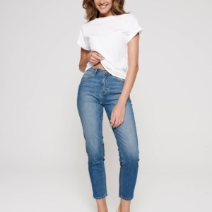 Straight-fit Jeans 7-8, denim blauw, 187, Axelles