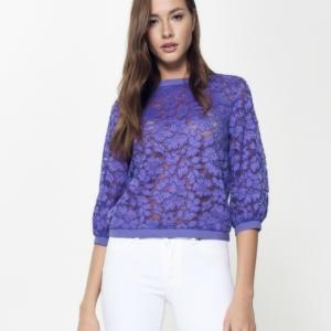 Blouse dames,lilac,violet,lace,paars,model LD 904,#Axelles