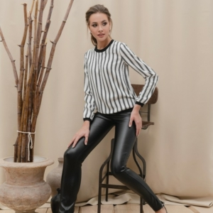 Blouse in zwart-wit strepen,strips, dames,ladies, black-white, ref-LBL899,jeggings,leggings,jeans,#Axelles-Fashion,#Axelles
