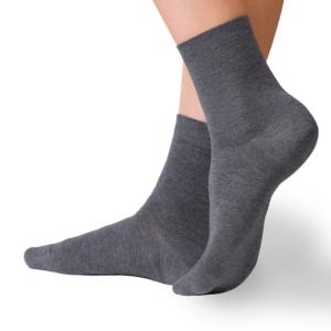 Warme sokken met cashmere (Comfort),donkergrijs, 14C-66CP, Axelles
