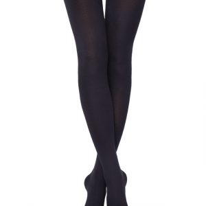 Panty katoen-lycra 450-denier (anatomisch hiel)/1 Pair 450-Denier Black Tights Women's Thermal Warm Fleece (anatomic heel), Model: COTTON 450 Product ID: 7C-75CP, #AxellesFashion