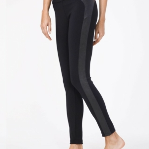 Corrigerende leggings met contrastbies /Women's leggings PUSH IN  minus ONE visible size,   Model: DIVA, Product: 16C-176TCP, #AxellesFashion.