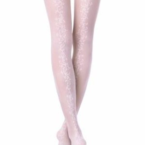 Panty's bruid met kantband (Glory-20)/Ceremony panty's / Panty voor een andere gelegenheid/ Wedding elastic panty's lace design, hold-ups, Model: Glory, article-15-54CP, #AxellesFashion