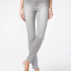 Dames jeans slim-fit vervaagdeffect/Women's denim trousers washed light grey Product ID: CON-127 Color: light grey/lichtgrijs, #AxellesFashion