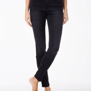 Dames jeans slim-fit vervaagdeffect/Women's denim trousers washed black, Product ID: 2992/4939, #AxellesFashion