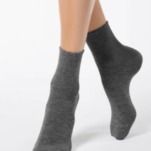 Warme sokken met angora (COMFORT), donkergrijs, 14C-114CP (000), Axelles