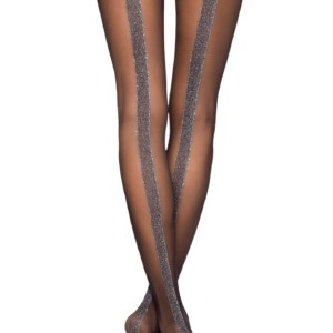 Bredenaad panty lurex 20-DEN (GLOSS), (Thin semi-transparant & elastic tights with cotton gusset, reinforced toe and flat seam).Model: GLOSS 20, article-18C-105CP, #AxellesFashion