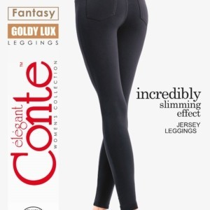 Corrigerende damesbroek (leggings) stretch GOLDY LUX / Incredibly slimming effect JERSEY pants (leggings), Model: GOLDY LUX, article-15C-003TCP, #AxellesFashion