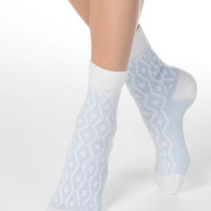 Zachte sokken grafisch patroon,blauw, (135)