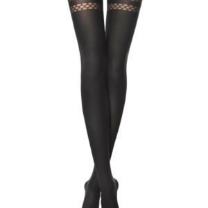Dames panty hold-up effect, 60-DEN (IMPULSE), black, zwart,18C-13CP