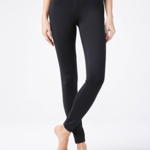 Anti Cellulitis broek (leggings) zwart voor een mooi silhouet / Dames leggings & treggings Anti-Cellulite, Women's Compression Anti-Cellulite shapewear leggings (can reduce cellulite from their belly and lower part of the body), model-JULIA, article-16C-165TCP, #AxellesFashion.
