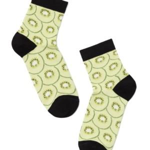 Klassiek damessokken kiwi print / Women's socks, Classic, klassiek, article-7С-22СП(-107), #AXELLES