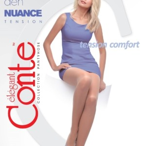 Dames panty zijdeglans 40-denier (NUANCE-euro)/1-Pair 40-Denier Elastic silky tights, with tightened top & toe (Tension Comfort), Model: NUANCE 40, article-8C-37CP, #AxellesFashion