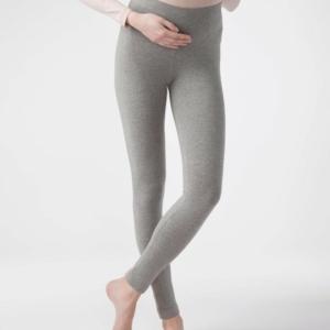 Zwangerschapslegging MAMA FITNES, Women's leggings maternity, article -18C-591TCP, grijs, zwart, denim, gray, back, #Axelles, #AxellesFashion.