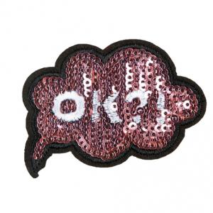 ok-wolkje-sequin-violet-patch geborduurd set, article-CNTP-08, #AXELLESFashion