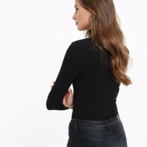 Women's bodysuit blouse classic underwear, zwart, rood, wit, khaki groen Model-LBD 823, #AxellesFashion