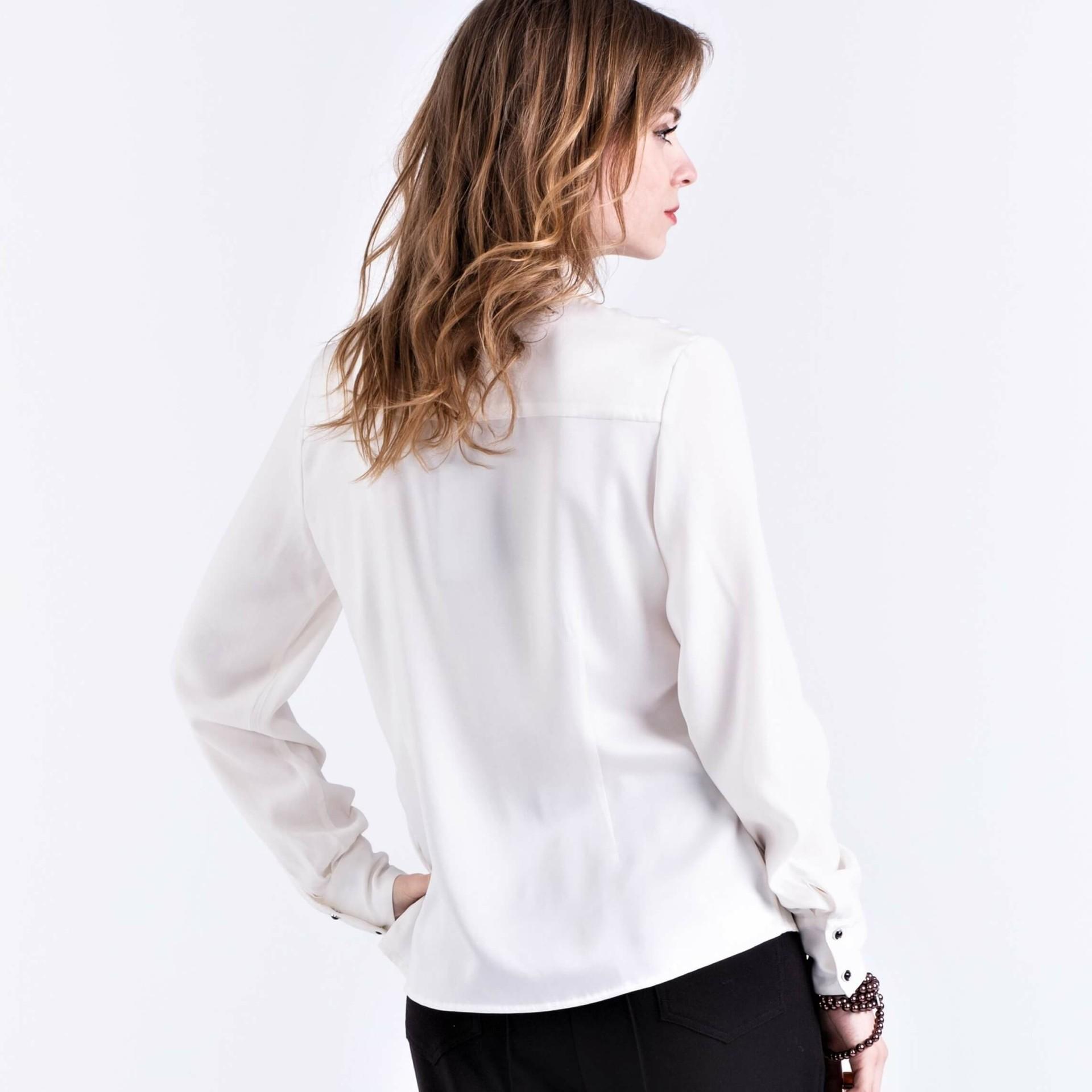 Betere Zijde blouse-shirt met pailletten | AXELLES Fashion UF-08