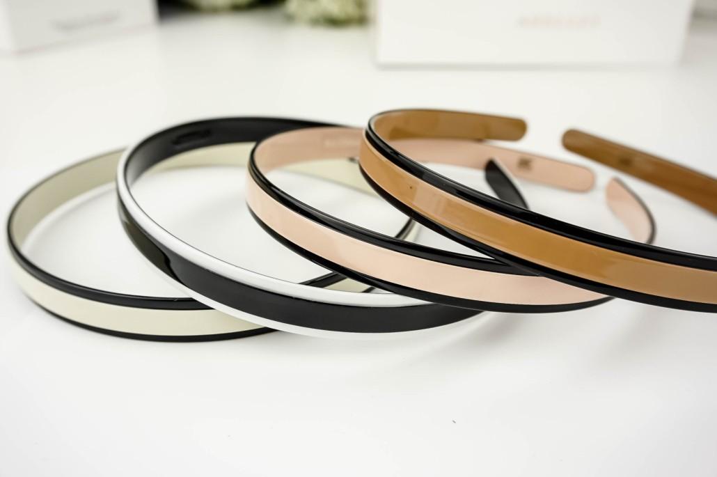 Stijlvol fijn haarband (hoofdband), zwart in geschenkdoos.