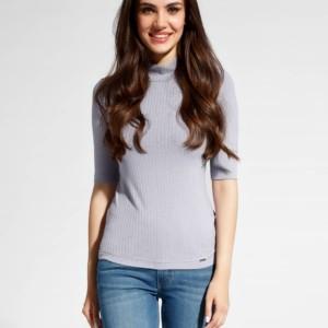 Basic rib-coltrui korte mouwen, premium-viscose, wit, alle maten en kleuren, Axelles-Fashion