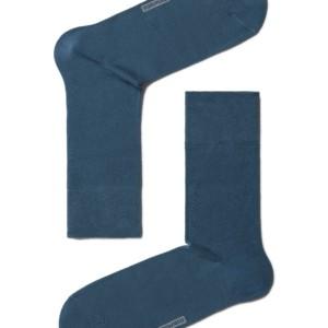 2-paar/set effen herensokken gekaamd-katoen, klassiek, denim blauw, 5C-08CP_color, AXELLES