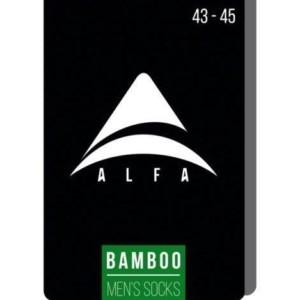 Bamboo Herensokken klassiek 2-paar, zwart. grijs,18C-2560_171, Axelles-Fashion