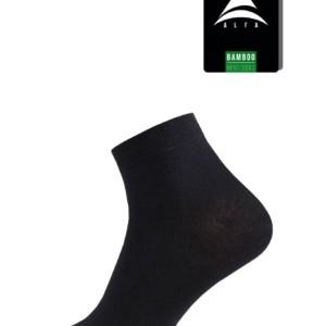 Bamboo Heren enkelsokken 2-paar/set, zwart. grijs,18C-2561-0, Axelles-Fashion