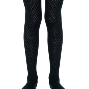 Fashionista kinderpanty met honingraat, Tina, zwart (in verpakking), kinderkousen, Axelles-Fashion