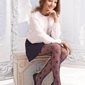 Feestelijke kinderpanty met sterren, zwart, in-verpakking, kopen, Axelles-Fashion.com