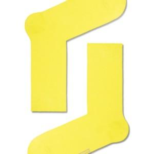 Heren sokken felle kleuren gekaamd katoen, effen, geel, 15С-23CP_000, Axelles-Fashion